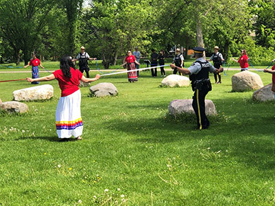 Participants of the June 21, 2020 Round Dance